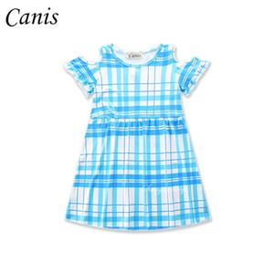 Sommer 2017 Baby-Kind-Kleid drei Arten von Kleid Off-Schulter Blumenprinzessin-Partei-Kleider 3-7Y