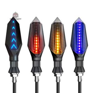 2pcs 오토바이 LED 턴 신호 조명을 주도 LED 방향 램프 장식 오토바이 조명 낮 실행 빛 DRL