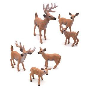 Simulation Deer Xmas Elk Christmas Decorations White-Tailed Reindeer Kids Model Wedding Decor Display Window Mini Simulated