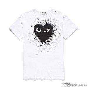 2018 COM COMMES Calidad des Garçons Divergencia del corazón camiseta de la impresión Negro Tamaño M pronta decisión F / S