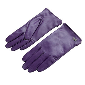 Wholesale- Free Shipping Fashion Women Glove With Short Genuine Leather Gloves Winter Goatskin Gloves