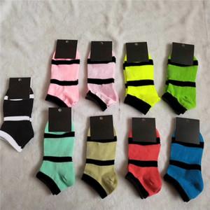 Многоцветные носки лодыжки с метками спортивные короткие розовые серые носки девушки женщины хлопок спортивные носки высокого качества с картоном