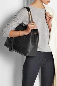 горячие продажи 2019 искусственная кожа женские сумки кисточкой SOHO taseel цепи stachel сумки на ремне messenger вечерняя сумка кошелек бродяги 387043