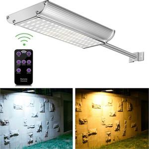 Güneş Duvar Işıkları Uzaktan Kumanda ile 70 LED Sokak Aydınlatma Süper Parlaklık Su Geçirmez Montaj ile LED Bahçe Güneş Işığı