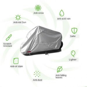 Motorcycle Cover Waterproof Outdoor Rain Dust Motorbike Protector 245x105x125cm