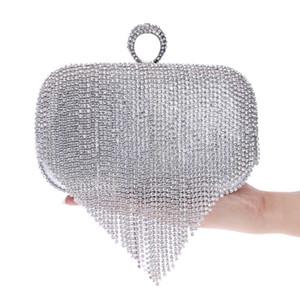 Luxury Ladies Tassels Clutch Bags Fashionable Banquet Bag Evening Dress Handbag Purse