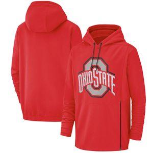 2019 Новый мужской штат Огайо Толстовка Салют для обслуживания Sideline Therma Performance NCAA Красная толстовка с капюшоном