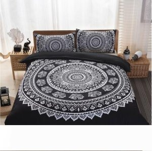 Bohemia Bedding Sets 2017 New King Size Peacocks Elephant Printed Bedding Sets Geometric Quilt Cover Pillow Case Pillow Slip Sets 36
