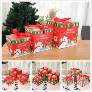 coffret cadeau bricolage de Noël 3pcs / lot de Noël accessoires de fenêtre boîte de bonbons chocolat fête famille décoration de Noël créatif emballage cadeau personnalité