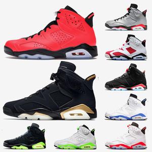Nike Air Jordan Retro Travis Scott 6 6s Yüksek Kalite Jumpman Travis Scott 6 6s Erkek Basketbol Ayakkabı GS Siyah Kızılötesi 3M Yansıtıcı Tasarımcı Eğitmenler Sneakers