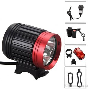 T6 Bicycle Light HeadLight 3 Cree Mode Waterproof Bike Front Light LED HeadLamp With 8.4v 6000mAh Battery Pack & Charger