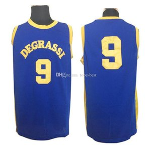 Mens Drake Jimmy Brooks # 9 Degrassi Community School Camicie pallacanestro pullover poco costoso blu Moive Degrassi High School di pallacanestro
