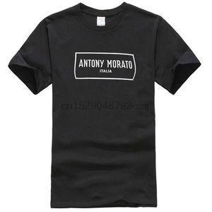 Hommes Antony Morato Am Box Logo T-shirt noir RRP