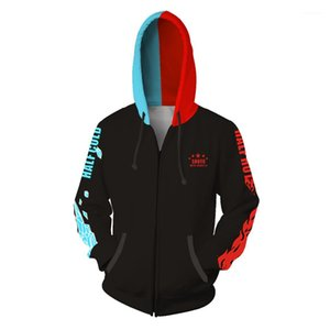 Calças Compridas Impressas Camisolas Camisolas Cardigan Zipper Cosplay Sweatshirts My Hero College Men Hoodies Digital