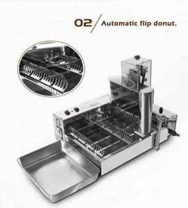 Frete grátis comercial donut elétrico fazendo máquina donut fritadeira mini donut máquina 4 fileiras donut fryer máquina