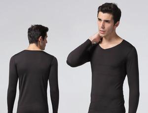 Взрывоопасные мужские бесшовные теплое нижнее белье костюм V-образным вырезом осенняя одежда и осенние брюки 37 градусов горячая бесшовная зима тонкий