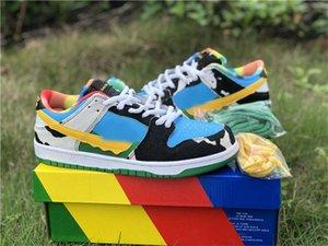 2020 Release auténtico Ben x SB Dunk Low Jerrys Chunky Dunky QS Pro Si no es divertido, ¿por qué hacerlo? Para mujer para hombre de los zapatos corrientes al aire libre las zapatillas de deporte
