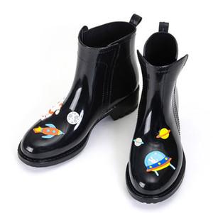 Fashion Rain Boots donne Flamingo Alta Piattaforma Stivali stivali da pioggia Casual Shoes prova impermeabile neve size35-40 JKK66