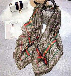 I progettisti della seta sciarpa di pashmina per le donne vendita calda Italia Marchi delle ragazze delle signore primavera-estate morbido cuore floreale degli scialli delle sciarpe 180x90cm S953