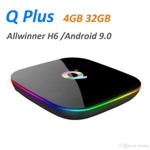 Q más inteligente Android 9.0 TV Box 4 GB 32 GB de Allwinner H6 1080P H.265 4K Media Player 2.4G inalámbrica Wifi Set Top Box