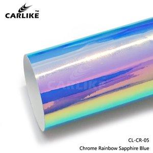 Venta al por mayor Sapphire Blue Chrome Laser Rainbow Car Sticker Vinyl Decoration