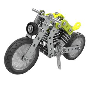 Kendi Motosiklet, 158Pcs Alaşım DIY Motosiklet Yapı Taşları Set, Çocuk 3D Bulmacalar KÖK Öğrenme Oyuncak Montajlı, Build