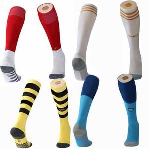 2019 2020 Real Madrid Manchester napoli l'Europe Football Club Cuissardes adulte soccer chez les enfants des chaussettes épaisses de football Chaussettes de sport