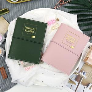 Rétro couverture en cuir Revues Journal Blank Note Book Replaceable Traveler Notebook Fournitures Papeterie Bloc-notes