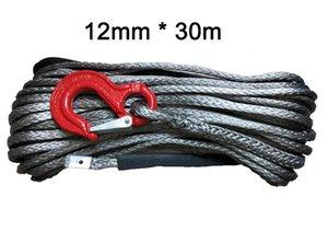 12mm * 30m sintética del torno línea UHMWPE cuerda con gancho para ATV UTV 4x4 todo terreno