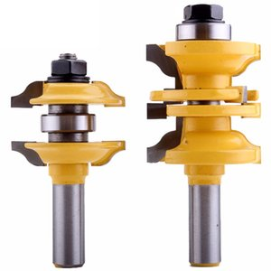 2Pcs 12mm Shank Entry & Interior Door Ogee Router Bit Matched Milling Cutter Set for Wood Woodworking Machine