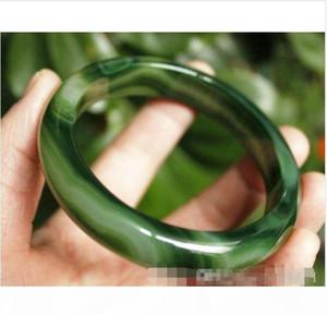Wholesale - Beloved Natural beautiful green jade bracelet bangle big size 70mm box