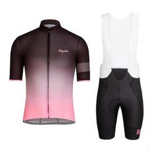 Rapha verão homens de manga curta desgaste cycling jersey bicicleta roupa jardineiras SET MTB uniforme PRO roupas de ciclismo bicicleta Maillot XS-4XL zestore