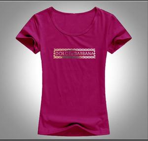 2019 Französisch Italienisch Damen T-Shirt Sommer lässig hochwertig bedruckter Baumwolle Damen T-Shirt Stretch Kurzarm T-Shirt Größe S-XL