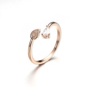 Mode Silber Gold Farbe Blatt Schmetterling Punk Sprike Ring Für Frauen Strass Offene Fingerringe Weiblichen Verlobungsring Schmuck Party Geschenk