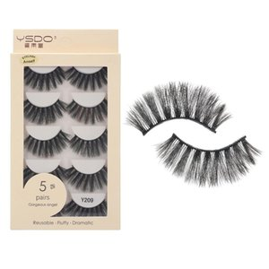 5 Pairs Fake Eyelashes 3D Mink Eyelashes Handamde for Eye Makeup Natural Long Thick Lashes Extension Makeup Tool