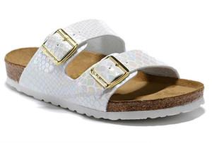 Xshfbcl Arizona 2019 New Summer Beach Cork Slipper Flip Flops Sandals Women Mixed Color Casual Slides Shoes Flat Free Shipping