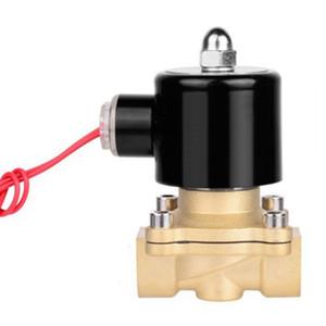 Freeshipping normalmente cerrado latón de la válvula electromagnética DN25 2W 1 pulgada electromagnética válvula de entrada de 220V