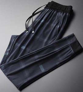 Minglu a cuadros impresos para hombre Pantalones tamaño 4XL transpirable tela de estiramiento flacos de los hombres adelgazan pantalones ocasionales