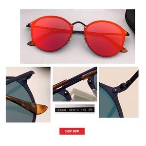 New Fashion Trend BLAZE ROUND Style Sunglasses Vintage Retro Brand Design Color Mirror Sun Glasses Women Oculos De Sol flash lens gafas