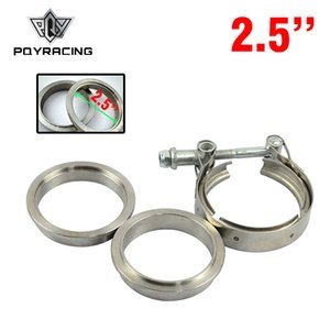 "PQY - Novo tipo 2.5 ""V Braçadeira Flange Kit (Aço Inoxidável 201) Para turbo tubo de escape PQY5231"