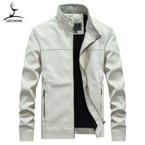 Mrmt gerebloggt 2020 Marke Frühling und Herbst der neuen Männer Jacken Fest Kragen PU-Leder-Mantel für Männer Jacken Oberbekleidung Kleidung, Kleidungsstück