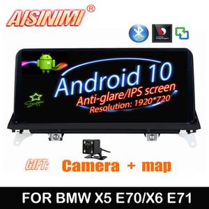 AISINIMI Qualcomm Android 10 Car Dvd Navi Player X5 E70 X6 E71 2007-2010 original CCC or CIC System Car audio stereo monitor
