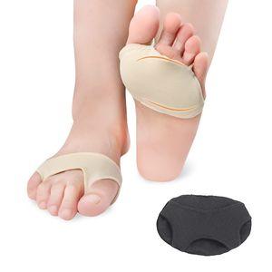 809 Gel Forefoot Cojín Anti-dolor Plantillas de pies Anti molienda Metatarsal Bola de almohadillas para pies Mangas de nylon Bola de pie Alivio para el dolor respirable