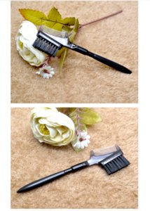 Eyelash comb double eyebrow brush makeup brush grooming trimming brush graft eyelash tool 100 pcs free epacket