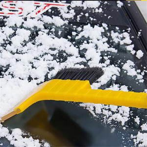 Car-styling Snow Cleaning Remover Windshield Snowplow Handheld Ice Scraper Snow Brush Scraper Car Ice With Brush