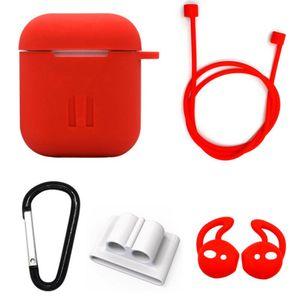 silicone caso trasduttore protezione per earpods 2 ds PO aria pro con attacco del cinturino anti-perso laccio per cialde aria trasduttore ganci DHL