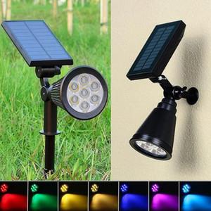 Spotlight Solar Lawn Luz de inundação ao ar livre Jardim 7 LED ajustável 7 cores em 1 Luz Paisagem Lâmpada de parede para Patio Decoração YSY342-L