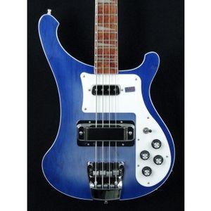 Редкий 4003 Trans Blue Bass Два выхода 4003 ric Прозрачный синий Электрический Бас Гитара Шея Через Тело Один ПК Шея Тело Китайский Бас