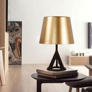 Moderno oro nero in ghisa in ghisa in ottone da tavolo da scrivania moderna camera da letto contemporanea accanto all'illuminazione di studio Ta074