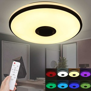 60W RGB Dimmable Music Ceiling Lamp Remote&APP control Ceiling Lights AC85-265V 220V for home bluetooth speaker LightingFixture